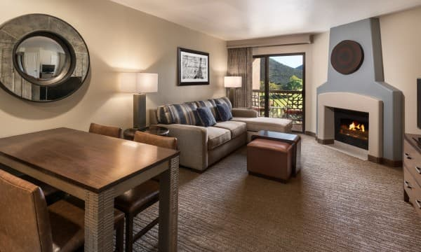 Enjoy views of the 18-hole championship golf course from your room.