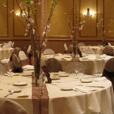 Our beautiful ballroom can be personalized for your wedding.