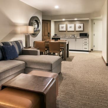 Plush furnishings, extra space and whirlpool bath await in our exclusive suite.
