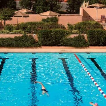 Cool down in our outdoor pool amid the desert.
