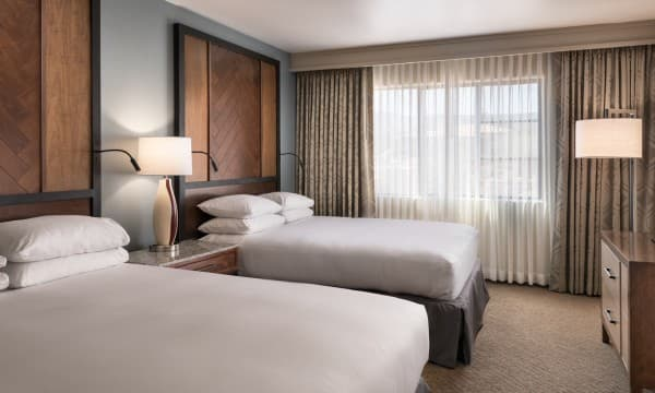 There's no better place to relax than our plush queen-sized beds.