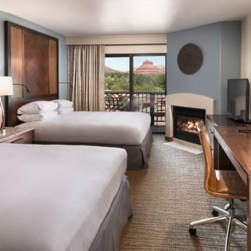 Gaze over the iconic red rock landscape from the comfort of your room.